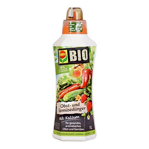 COMPO BIO Obst- und Gemüsedünger für alle Obst- und Gemüsesorten Natürlicher Spezial-Flüssigdünger 1 Liter
