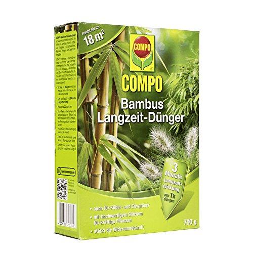 COMPO Bambus Langzeit-Dünger für alle Bambusarten Zier- und Kübelgräser 3 Monate Langzeitwirkung 700 g 18m²