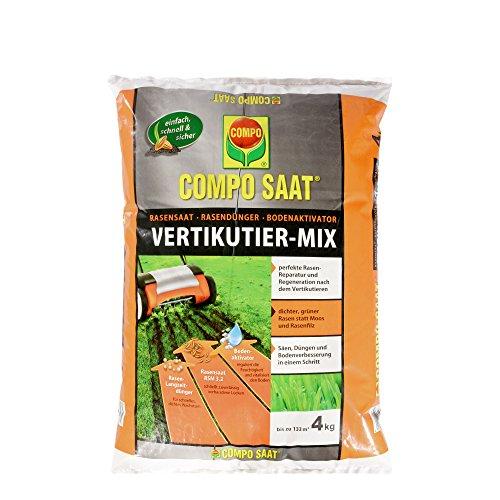 COMPO SAAT Vertikutier-Mix Rasensamen Rasendünger und Bodenaktivator 4 kg 133 m²