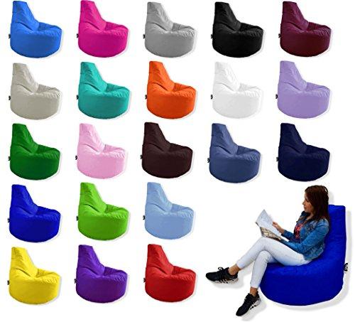 Patchhome Gamer Kissen Lounge Kissen Sitzsack Sessel Sitzkissen In Outdoor geeignet fertig befüllt  Kiwi - Ø 75cm x Höhe 80cm - in 2 Größen und 25 Farben