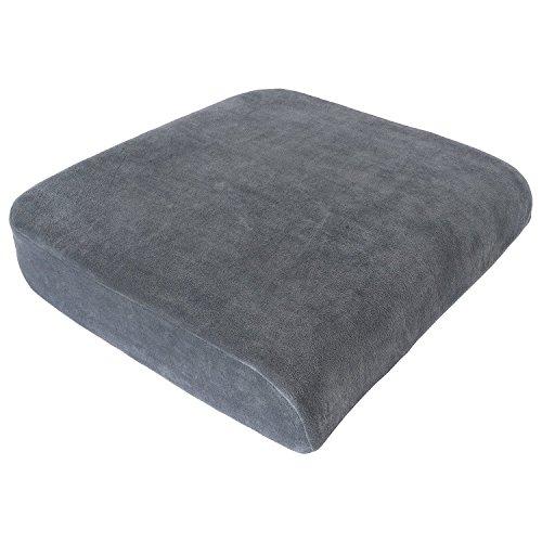 XL Sitzkissen von Formalind für Gartenmöbel Sessel Bürostühle  Viscoelastisches Sitzpolster gegen Verspannungen und Schmerzen