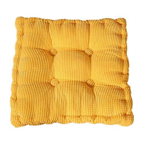 chytaii Sitzkissen Sessel Sitz Sofa quadratisches Kissen Dick Spielzeug Puppe Geschenk Dekoration für Haus Esszimmer Auto Mehrfarbig gelb
