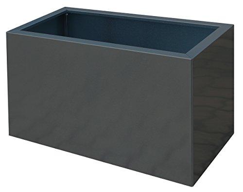 Palatino Exclusive Line HochbeetPflanzkübel LOTTE aus verz Stahl anthrazit 100 x 40 Tiefe 50 cm modular