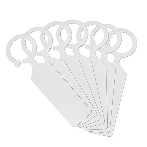100 Stk Weiß Pflanzenstecker Plastik Hängende Kunststoff Pflanzenschilder Beschriften Weiß Stecketiketten Pflanzen Etiketten