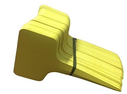 Dosige 100 Stück Pflanzenstecker Plastik Stecketiketten Beschriften Pflanzschilder Schilder für Garten Pflanzen T-Form Gelb 610cm