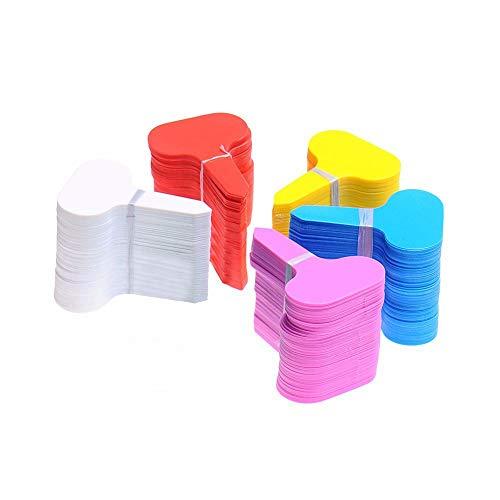 KINGLAKE 500 Stk Pflanzenstecker Plastik Pflanzenstecker Beschriften T-Typ Kunststoff Stecketiketten Pflanzen Etiketten 5 Farben