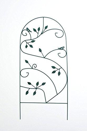 CLP Pflanzen Rankgitter PRATO Metall massiv Größe 110 x 50 cm Stabstärke 05-1 cm Grün