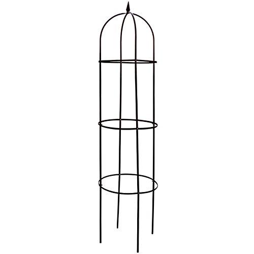Rankhilfe aus Stahl grün lackiert 200 x 40 cm • Garten Oberlisk Ranksäule Rankgitter Spaliere Rosensäule Pergola