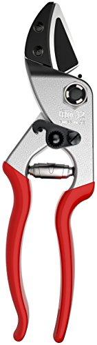 FELCO 32 Einhand-Baumschere  Rebschere  Gartenschere  Amboss-Schere  Baumschere  Klinge aus gehärtetem Stahl mit gebogenem Amboss sauberer präziser Schnitt alle Teile austauschbar