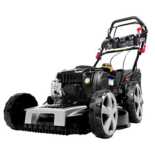 BRAST Benzin-Rasenmäher Selbstantrieb Briggs Stratton Motor 222kW 3PS 51cm Schnittbreite 30-80mm Schnitthöhe 60L Grasfangkorb GT Getriebe Easy Clean Stahlblechgehäuse Rasen-Mäher B&S Benzinmäher