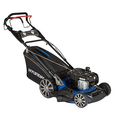 HYUNDAI Benzin-Rasenmäher LM4601G B&S Selbst-Antrieb Schnittbreite 46cm 19kW Briggs Stratton Motor 65L Fangkorb Mulchfunktion Benzin-Mäher