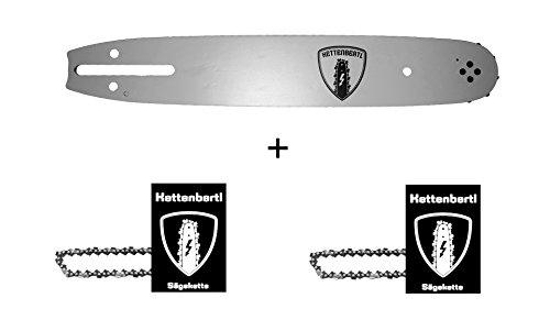 2 x Sägekette  1x Kettenbertl Führungsschiene für Motorsäge OBI-DIANA 1400-40KS 35 cm Schwert Schnittlänge 38 13 mm