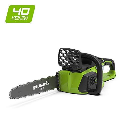 Greenworks 40V Akku-Kettensäge mit bürstenlosem Motor 40cm Schwertlänge ohne Akku und Ladegerät - 20077