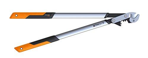 Fiskars PowerGearX Amboss-Getriebeastschere für trockenes und hartes Holz Antihaftbeschichtet Gehärteter Präzisionsstahl Länge 80 cm SchwarzOrange LX99-L 1020189