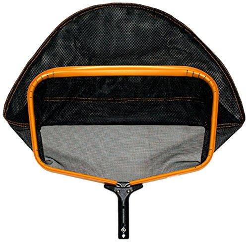 pooline Produkte 11524tl groß Schwere Pflicht Tief Rechen mit breiter Mund und stabiler Weich Net inkl orange Gestell schwarzer Griff und Schwarz Netz