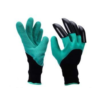 Browill Wasserdicht Gartenhandschuhe 1 Paar langlebig stichsichere Safe Gartenarbeit Handschuhe mit ABS-Kunststoff krallen für Haushalt und Garten Werkzeug handschuhe