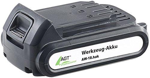 AGT Professional Zubehör zu Werkzeug Ersatzakkus Li-Ion-Werkzeug-Akku AW-18hak 18 V2000 mAh Original-Hersteller-Akkus