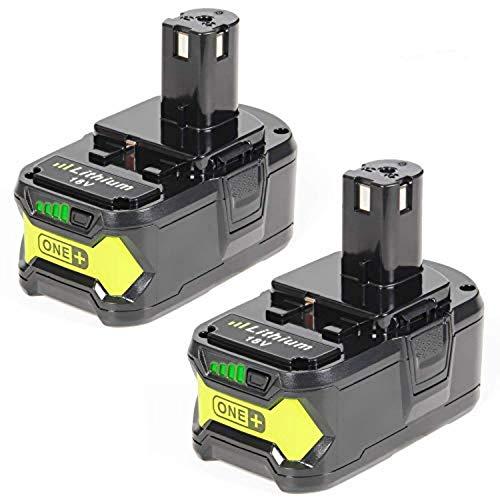 LENOGE 2 Stück 18V 50Ah RB18L50 Li-ion Ersatzakku für Ryobi ONE P108 P107 P122 P104 P105 P102 P103 Li-ion Ersatz Batterie Werkzeug Akku