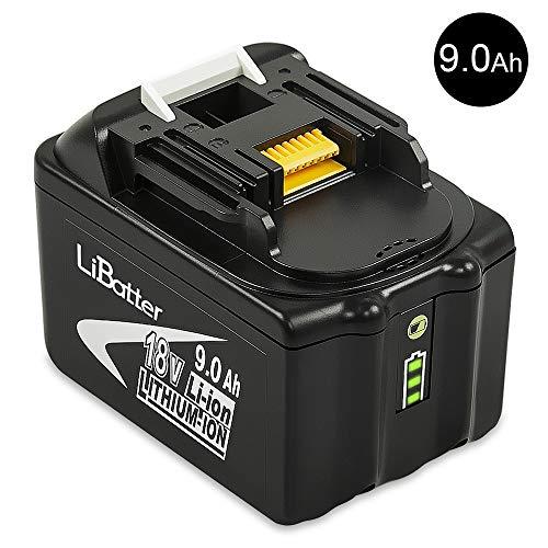 LiBatter BL1890B 18V 90Ah Lithium Ersatzakkus für Werkzeug akku Makita BL1850B BL1850 BL1840 BL1830 BL1820 BL1860 BL1890 BL1815 BL1835 BL1845 LXT-400 196399-0 194205-3 194204-5 mit Anzeige