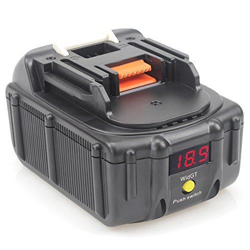 QUPER BL1830B 18V 50 Ah Lithium Ersatzakkus für werkzeug akku Makita BL1860B BL1860 BL1850B BL1850 BL1840B BL1840 BL1830B BL1830 BL1820 LXT-400 mit LED-Spannung Anzeige und Schnittstelle der USB-Lade