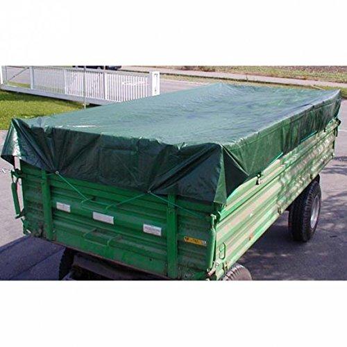 PE - Holzabdeckplane 15 x 10 m grün 210 gm² 431510
