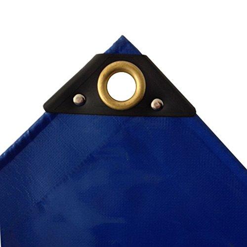 650 gm² blaue PVC Abdeckplane 2 x 3m 6m² LKW Plane Industrie Gewebeplane ÖsenUV stabil reissfest wasserdicht Plane Schutzplane