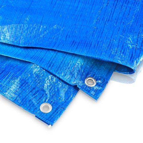 Abdeckplane 10 x 10 Meter - 60 g blau