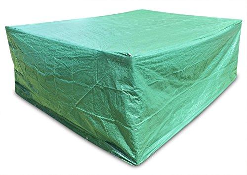 Große Abdeckung Gartenmöbel Schutzhülle Gartenmöbel und Abdeckplane für rechteckige Sitzgarnituren Gartentische und Möbelsetsl 278cm x 204cm x 106cm