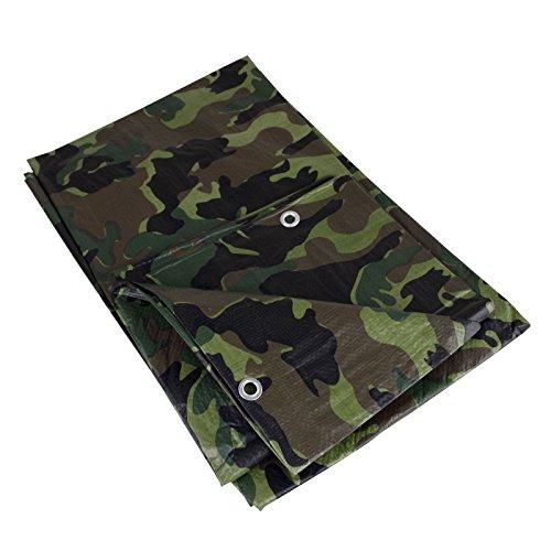 Abdeckplane 2x3m 90gm² camouflage Holzabdeckplane Plane Flecktarn Schutzplane