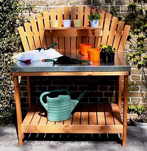 Pflanztisch HELGA Gärtnertisch 116x76x139cm Gartentisch verzinkt Kiefer massiv