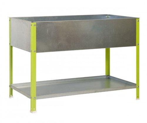 ontra GmbH Hochbeet Pflanztisch 85x90x40 100l verzinktgrün Größe 85x90x40cm