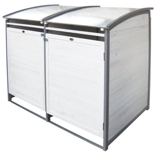 Habau 3140 Mülltonnenbox 120 Liter Doppel 122 x 76 x 116 cm