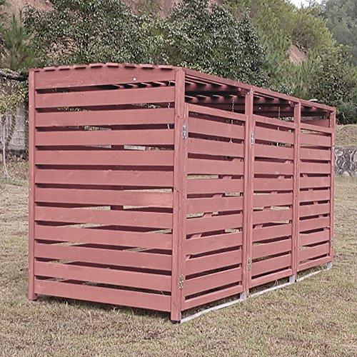 Zoopplier Outdoor Mülltonnenschränke Mülltonnenbox Mülltonnenverkleidung Classic 240 L 3er braun
