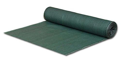 Bradas AS-CO13515025GR Sichtschutz - Zaunblende - Staubschutz - Schattiergewebe 15 x 25 m dunkelgrün
