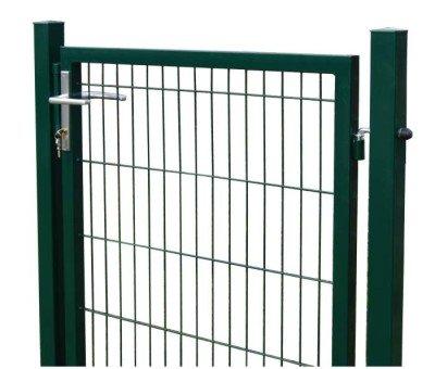 Gartentor Zaun Camas 1430x1000mm inkl Pfosten RAL 6005grün