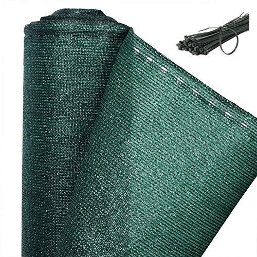 WOLTU GZZ1181m6 Zaunblende Tennisblende Schattiernetz Sichtschutz Windschutz Staubschutz Sonnenschutz Gewebe Netz mit Kabelbinder grün 12x30m
