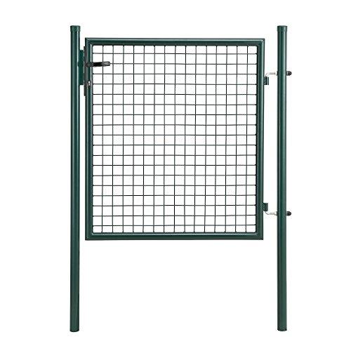 protec Gartentür 150x106 grün Gartentor Zauntür Gartenpforte Gartenzaun Tür