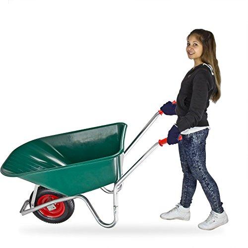 DEMA Schubkarre 100 Liter mit Kunststoffwanne