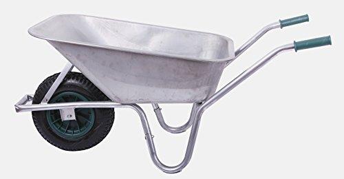 Schubkarre 100 ltr 250kg verzinkt Gartenkarre Bauschubkarre Baukarre