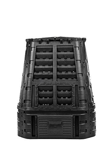 myGardenlust Komposter - Schnellkomposter aus Kunststoff - Thermokomposter als praktisches Stecksystem - Kompostierer stabil und hochwertig - Composter für Garten-Abfälle Schwarz  650L