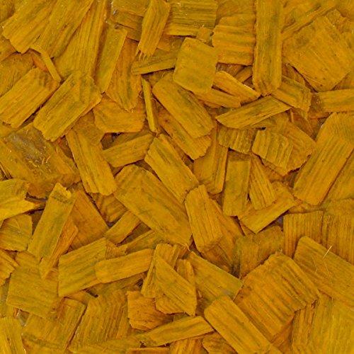 PALIGO Holzhackschnitzel Gelb Farbig Fallschutz Hackschnitzel Wald Kiefer Natur Pinus Sylvestris Garten Dekor Mulch Holz Häcksel Fein 5-30mm 70l Sack  1 Karton Galamio