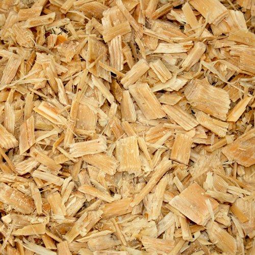 PALIGO Holzhackschnitzel Natur Hackschnitzel Wald Kiefer Pinus Sylvestris Garten Dekor Mulch Holz Häcksel Grob 0-60mm 70l Sack  1 Karton Galamio
