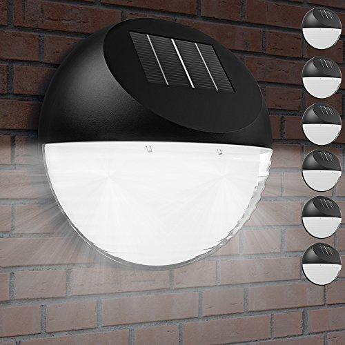 6x LED Solarleuchte Solarleuchten Garten Solar LED Außenleuchte Gartenleuchte Zaunleuchte Wandleuchte Halbkugel Wasserdicht für Haus Zaun Garten Garage Schuppen Treppe Garten Deko
