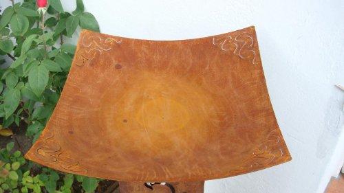 Schale aus Metall Rost Pflanzschale Gartendeko Edelrost aus Metall Dekoschale Deko eckig ca 37cm x 37cm Pflanz-Kübel Blumen-Schale Pflanztopf Blumentopf Garten Terrasse Balkon