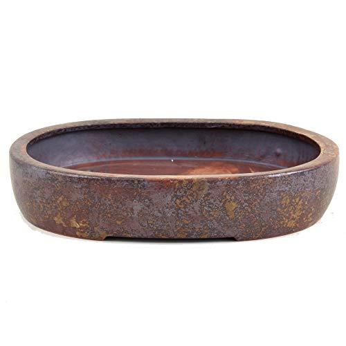 Bonsai - Schale oval 265 x 205 x 5 cm beige-rotbraun frostfest 30010