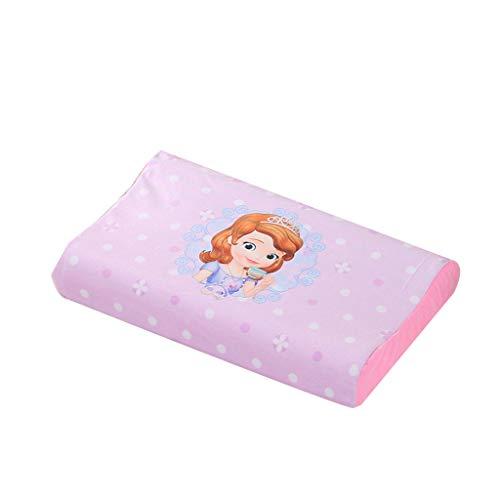 Naturlatex-Kissen für häusliche Massage für Kinder Halswirbel entlasten Halsschmerzen Taubheit Verbessern Sie Schlafqualität Antibakterielles Atmungsaktives Gedächtniskissen  Farbe  Princess Pink