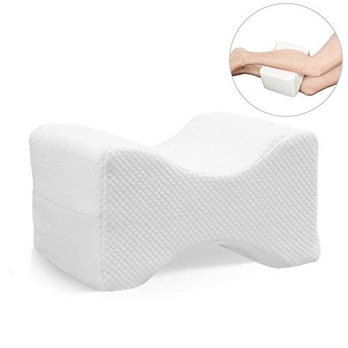 Arvin87Lyly Orthopädisches Knie Kissen Kniekissen für Seitenschläfer Gedächtnis Schaumstoffkissen mit waschbarem Sorgt für Druckentlastung - Hüfte Bein Knie Rücken und Schwangerschaft