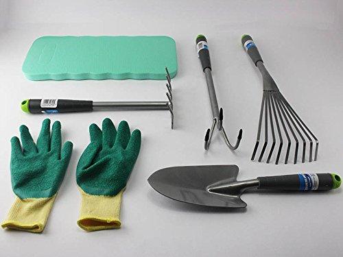 Garten Hand Werkzeuge Set Beet Rechen Grubber Rasen Harke Spaten Knie Kissen