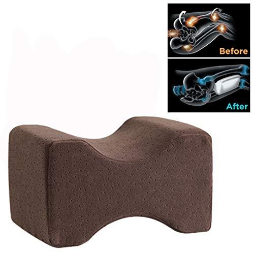 VNEIRW Orthopädisches Kniekissen für Seitenschläfer Seitenschläferkissen Support Kissen Gedächtnis Schaumstoffkissen mit waschbarem Sorgt für Druckentlastung - Hüfte Bein Knie Rücken Kaffee