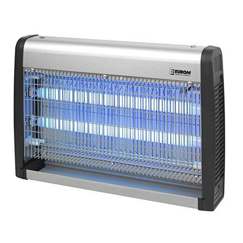 EUROM Insektenvernichter Insektenlampe mit UV-Lampe 30W 2x 15W und 150m² Reichweite